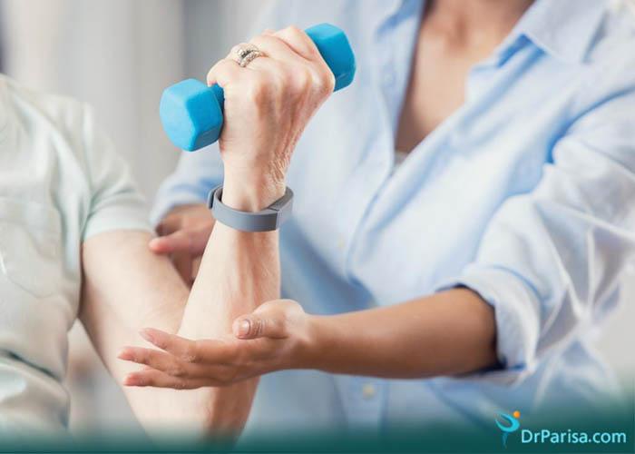 ورزش درمانی درد آرنج