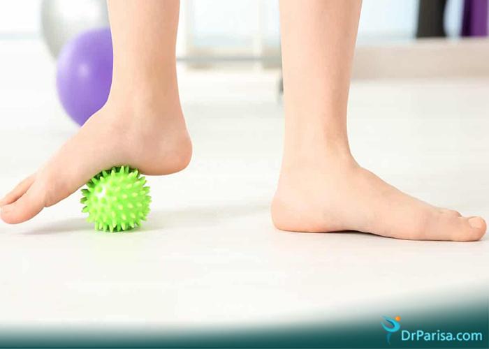 صافی کف پا با درد